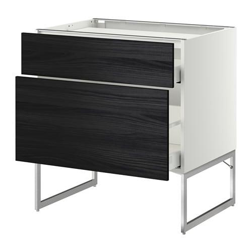 metod maximera unterschr f kochf 2 fronten 2sch tingsryd holzeffekt schwarz 80x60x60. Black Bedroom Furniture Sets. Home Design Ideas