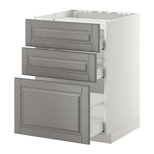 metod maximera unterschr f kochf 3 fronten 3sch bodbyn grau 60x60 cm ikea. Black Bedroom Furniture Sets. Home Design Ideas