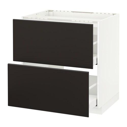metod maximera unterschr f kochf 2 fronten 2sch kungsbacka anthrazit 80x60 cm ikea. Black Bedroom Furniture Sets. Home Design Ideas