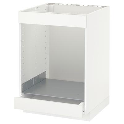 METOD / MAXIMERA Unterschr. f Kochf.+Ofen+Schublade, weiß/Häggeby weiß, 60x60 cm