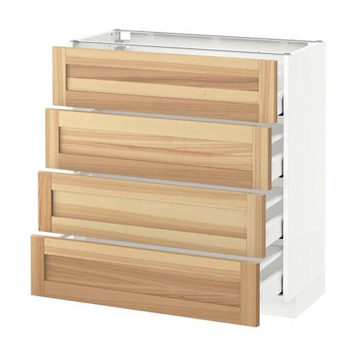 metod maximera unterschr 4 fronten 4 schubladen torhamn naturfarben esche 80x37 cm ikea. Black Bedroom Furniture Sets. Home Design Ideas