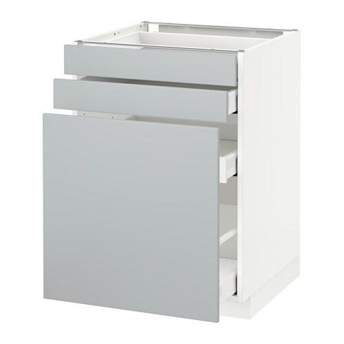 metod maximera unterschrank m vollauszug 2 fronten wei veddinge grau 60x60 cm ikea. Black Bedroom Furniture Sets. Home Design Ideas