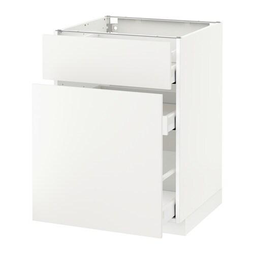 metod maximera unterschrank mit auszug schublade h ggeby wei 60x60 cm ikea. Black Bedroom Furniture Sets. Home Design Ideas