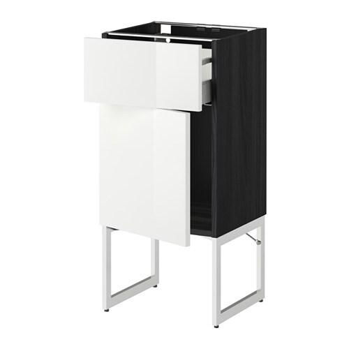 Ikea Drehstuhl Gebraucht Kaufen ~ METOD  MAXIMERA Unterschrank mit Schublade Tür  Ringhult Hochglanz