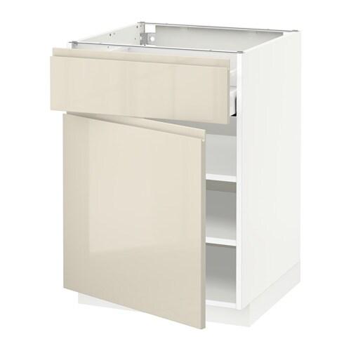 metod maximera unterschrank mit schublade t r voxtorp hochglanz hellbeige 60x60 cm ikea. Black Bedroom Furniture Sets. Home Design Ideas