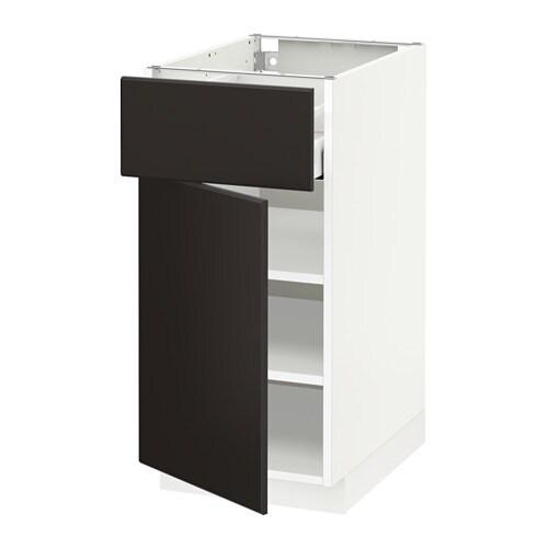 metod maximera unterschrank mit schublade t r kungsbacka anthrazit 40x60 cm ikea. Black Bedroom Furniture Sets. Home Design Ideas