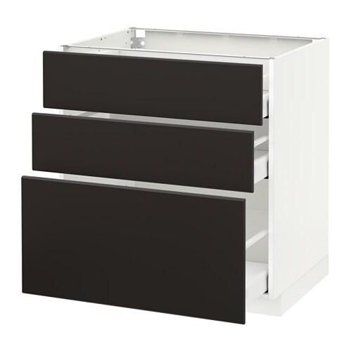 metod maximera unterschrank mit 3 schubladen kungsbacka anthrazit 80x60 cm ikea. Black Bedroom Furniture Sets. Home Design Ideas