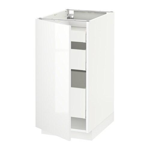 metod maximera unterschrank mit t r 3 schubladen ringhult hochglanz wei 40x60 cm ikea. Black Bedroom Furniture Sets. Home Design Ideas