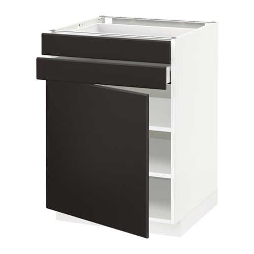 metod maximera unterschrank mit t r 2 schubladen kungsbacka anthrazit 60x60 cm ikea. Black Bedroom Furniture Sets. Home Design Ideas