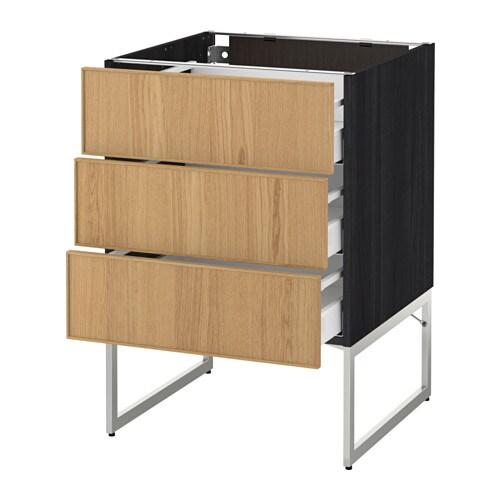 ikea k che eiche valdolla. Black Bedroom Furniture Sets. Home Design Ideas