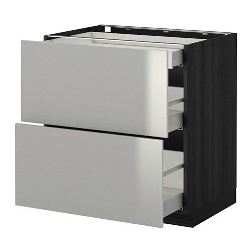 metod maximera uschr 2 fr 3 sch holzeffekt schwarz grevsta edelstahl 80x60 cm ikea. Black Bedroom Furniture Sets. Home Design Ideas