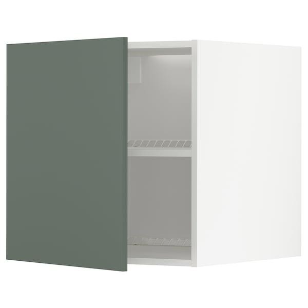 METOD Oberschr f Kühl-/Gefrierschrank, weiß/Bodarp graugrün, 60x60 cm