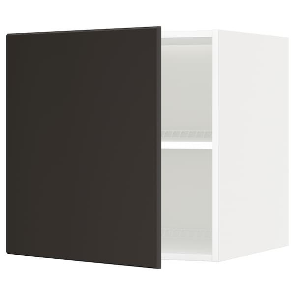 METOD Oberschr f Kühl-/Gefrierschrank, weiß/Kungsbacka anthrazit, 60x60 cm