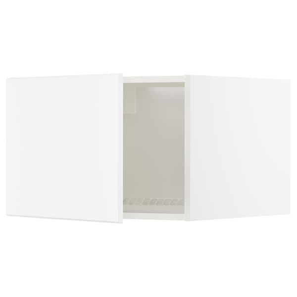 METOD Oberschr f Kühl-/Gefrierschrank, weiß/Kungsbacka matt weiß, 60x40 cm