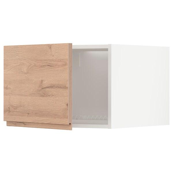METOD Oberschr f Kühl-/Gefrierschrank, weiß/Voxtorp Eichenachbildung, 60x40 cm