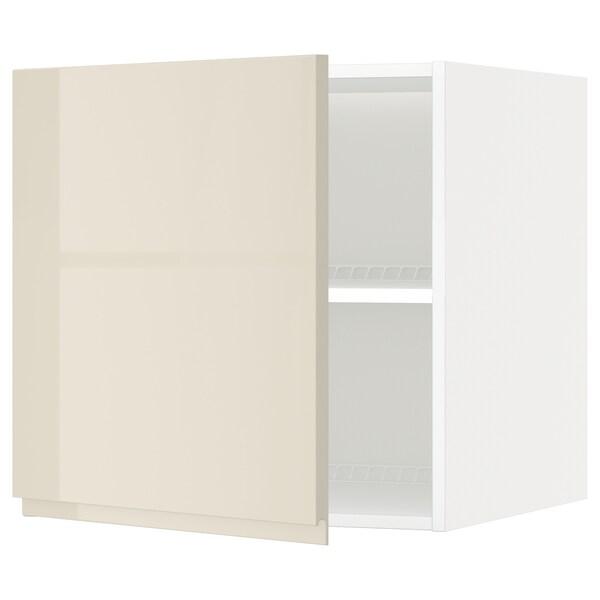 METOD Oberschr f Kühl-/Gefrierschrank, weiß/Voxtorp Hgl hbei, 60x60 cm
