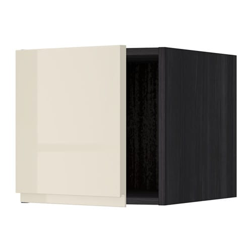 metod oberschrank holzeffekt schwarz voxtorp hochglanz hellbeige ikea. Black Bedroom Furniture Sets. Home Design Ideas