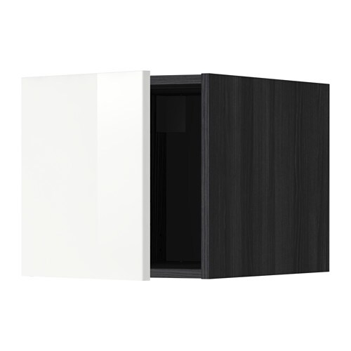 metod oberschrank holzeffekt schwarz ringhult hochglanz wei ikea. Black Bedroom Furniture Sets. Home Design Ideas