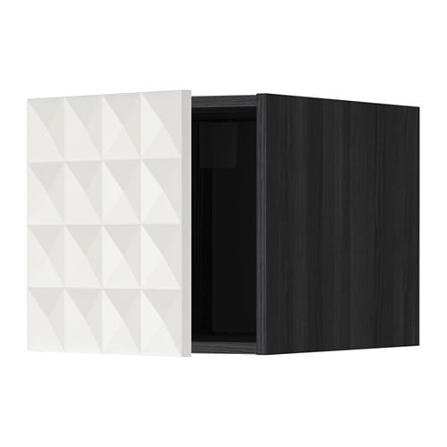 metod oberschrank holzeffekt schwarz herrestad wei ikea. Black Bedroom Furniture Sets. Home Design Ideas
