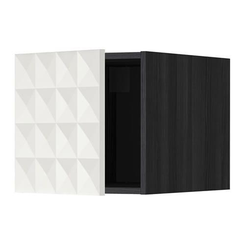 metod oberschrank holzeffekt schwarz herrestad wei ikea. Black Bedroom Furniture Sets. Home Design Ideas