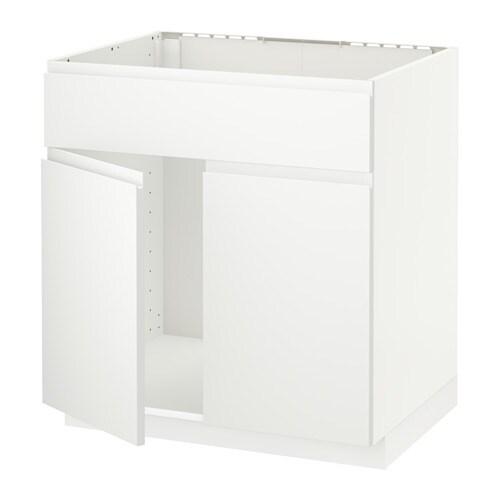 metod unterschr f sp le 2 t ren front voxtorp matt wei ikea. Black Bedroom Furniture Sets. Home Design Ideas