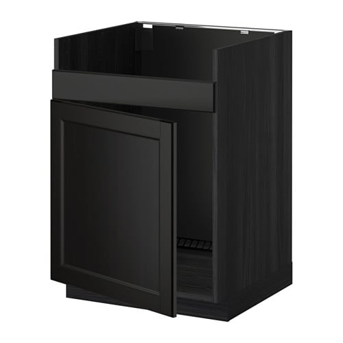 metod unterschrank f domsj sp le 1 laxarby schwarzbraun holzeffekt schwarz ikea. Black Bedroom Furniture Sets. Home Design Ideas