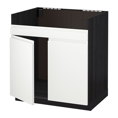 metod unterschrank f domsj sp le 2 holzeffekt schwarz voxtorp wei ikea. Black Bedroom Furniture Sets. Home Design Ideas