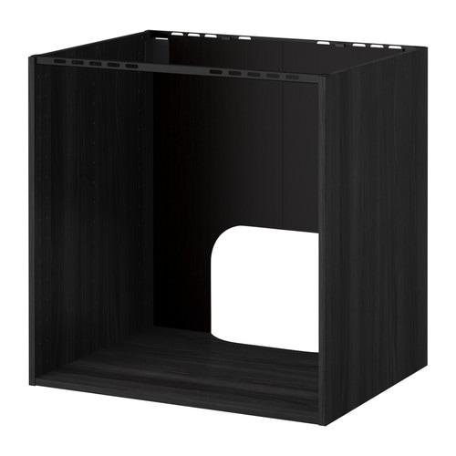 Ikea Detolf Glass Cabinet Review ~ METOD Unterschrank für Einbauofen Spüle  Holzeffekt schwarz