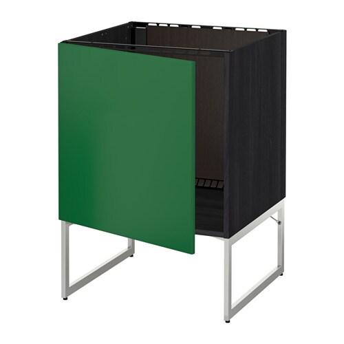 Ikea Trones Cipősszekreny Eladó ~   Unterschrank für Spüle  Flädie grün, Holzeffekt schwarz  IKEA