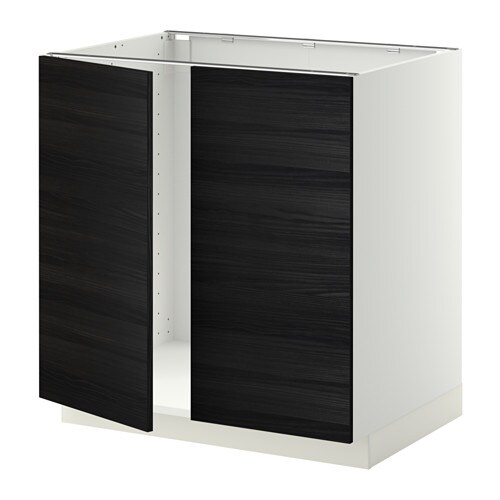 metod unterschrank f r sp le 2 t ren tingsryd holzeffekt schwarz 80x60 cm ikea. Black Bedroom Furniture Sets. Home Design Ideas