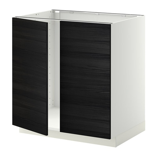 metod unterschrank f r sp le 2 t ren tingsryd holzeffekt schwarz ikea. Black Bedroom Furniture Sets. Home Design Ideas