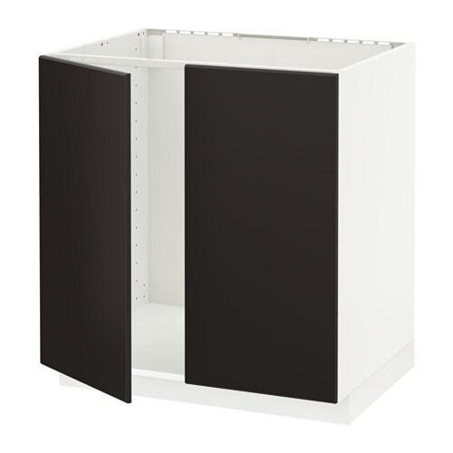 metod unterschrank f r sp le 2 t ren kungsbacka anthrazit 80x60 cm ikea. Black Bedroom Furniture Sets. Home Design Ideas