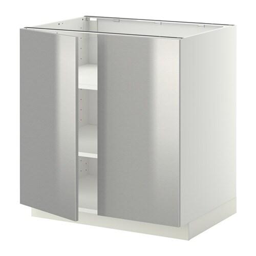 Dressing Table Organizer Ikea ~ METOD Unterschrank m Böden 2Türen  Grevsta Edelstahl, weiß, 80×60