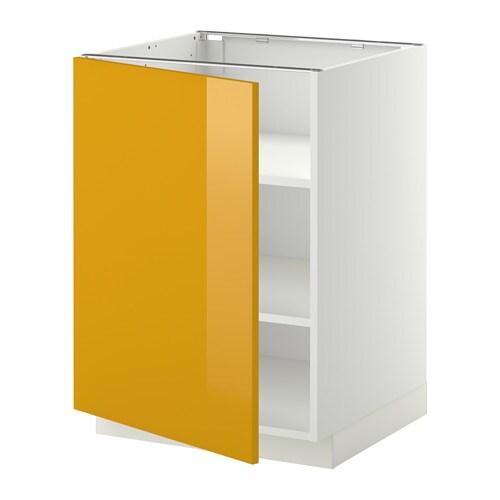 metod unterschrank mit b den j rsta hochglanz gelb wei 60x60 cm ikea. Black Bedroom Furniture Sets. Home Design Ideas