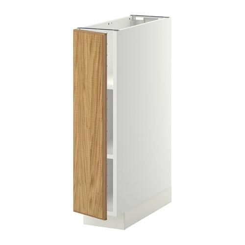 metod unterschrank mit b den hyttan eichenfurnier 20x60 cm ikea. Black Bedroom Furniture Sets. Home Design Ideas