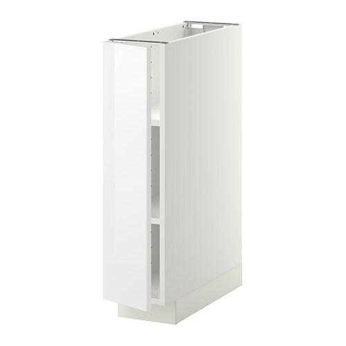 Ikea Utrusta Bleibt Nicht Oben ~ METOD Unterschrank mit Böden  weiß, Ringhult Hochglanz weiß, 20×60