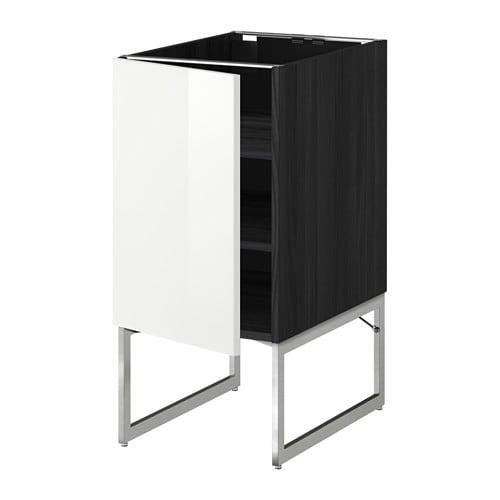 metod unterschrank mit b den holzeffekt schwarz ringhult hochglanz wei 40x60x60 cm ikea. Black Bedroom Furniture Sets. Home Design Ideas