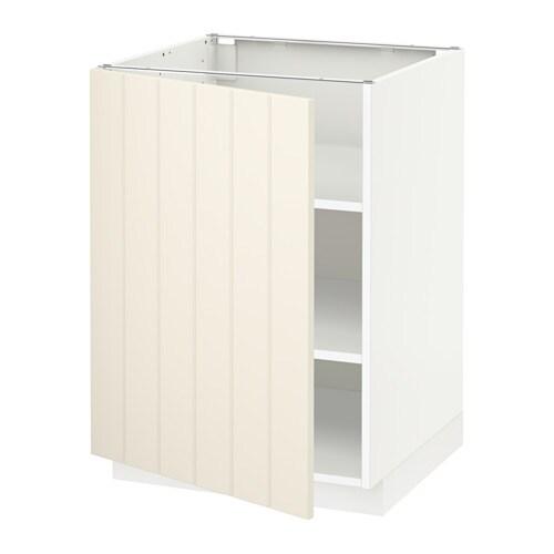 metod unterschrank mit b den hittarp elfenbeinwei 60x60 cm ikea. Black Bedroom Furniture Sets. Home Design Ideas
