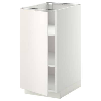 METOD Unterschrank mit Böden, weiß/Veddinge weiß, 40x60 cm