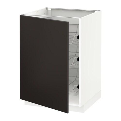 metod unterschrank mit drahtk rben kungsbacka anthrazit 60x60 cm ikea. Black Bedroom Furniture Sets. Home Design Ideas