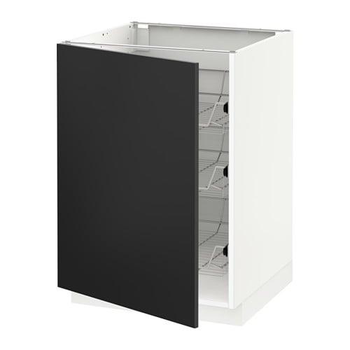 metod unterschrank mit drahtk rben 60x60 cm ikea. Black Bedroom Furniture Sets. Home Design Ideas