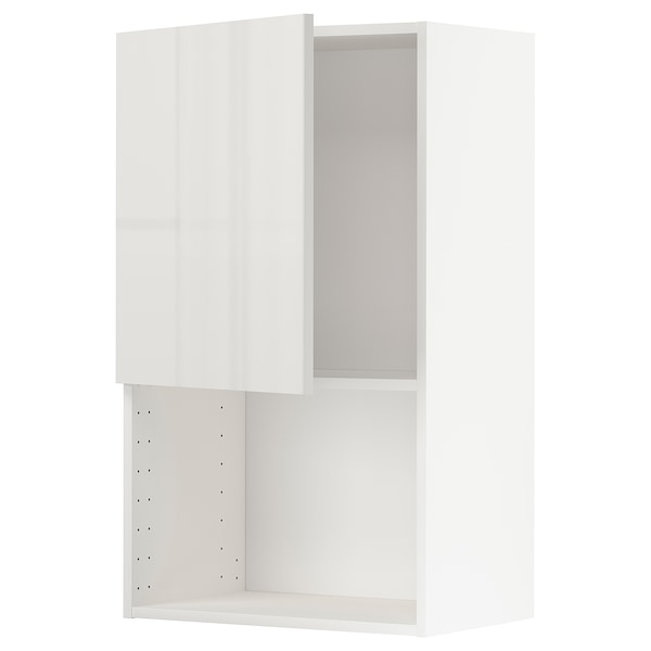 METOD Wandschrank für Mikrowellenherd weiß/Ringhult hellgrau 60.0 cm 38.8 cm 100.0 cm
