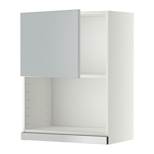 metod wandschrank f r mikrowellenherd wei veddinge grau 60x80 cm ikea. Black Bedroom Furniture Sets. Home Design Ideas