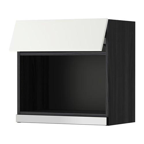 metod wandschrank f r mikrowellenherd holzeffekt schwarz h ggeby wei 60x60 cm ikea. Black Bedroom Furniture Sets. Home Design Ideas