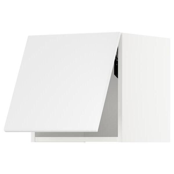 METOD Wandschrank horiz. m Drucksystem, weiß/Kungsbacka matt weiß, 40x40 cm