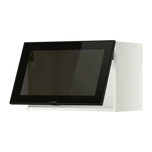 Ikea Vitrinentür metod wandschrank horiz m vitrinentür jutis rauchglas schwarz