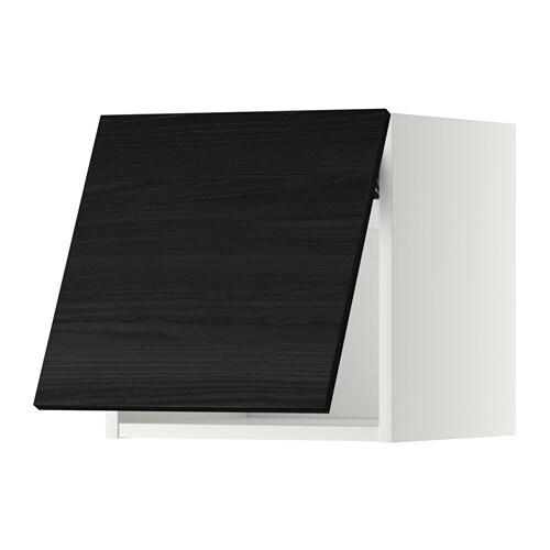 METOD Wandschrank horizontal Tingsryd Holzeffekt schwarz
