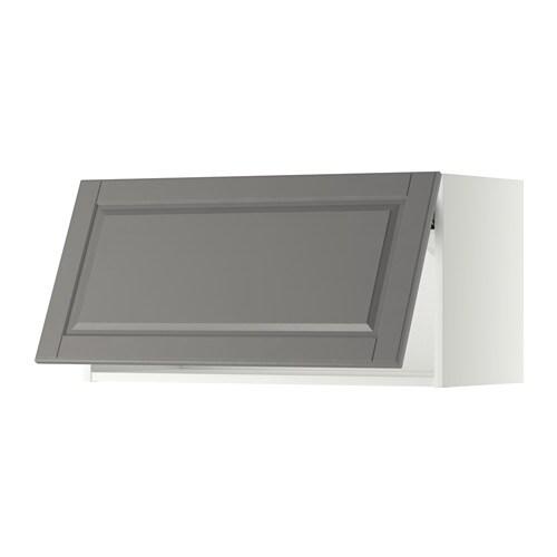 METOD Wandschrank horizontal Bodbyn grau 80x40 cm IKEA