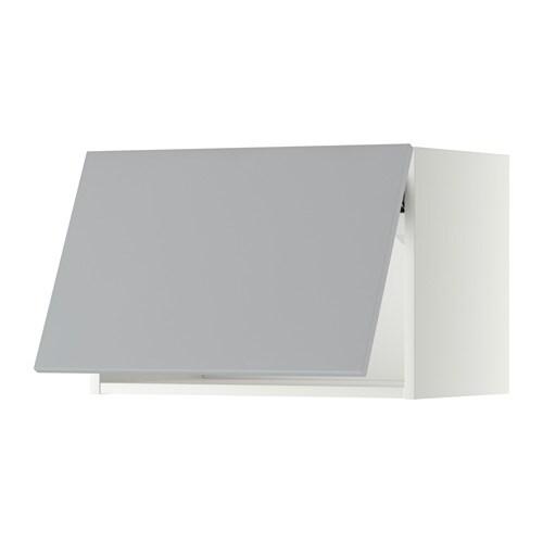 METOD Wandschrank horizontal weiß Veddinge grau 60x40