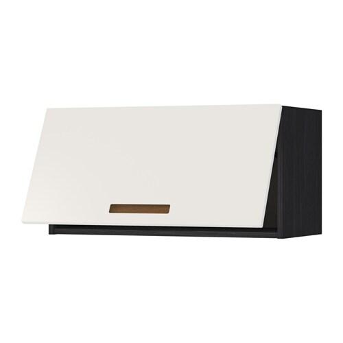 Metod wandschrank horizontal holzeffekt schwarz marsta for Wandschrank horizontal